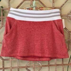 NWT Free People red miniskirt with elastic waist